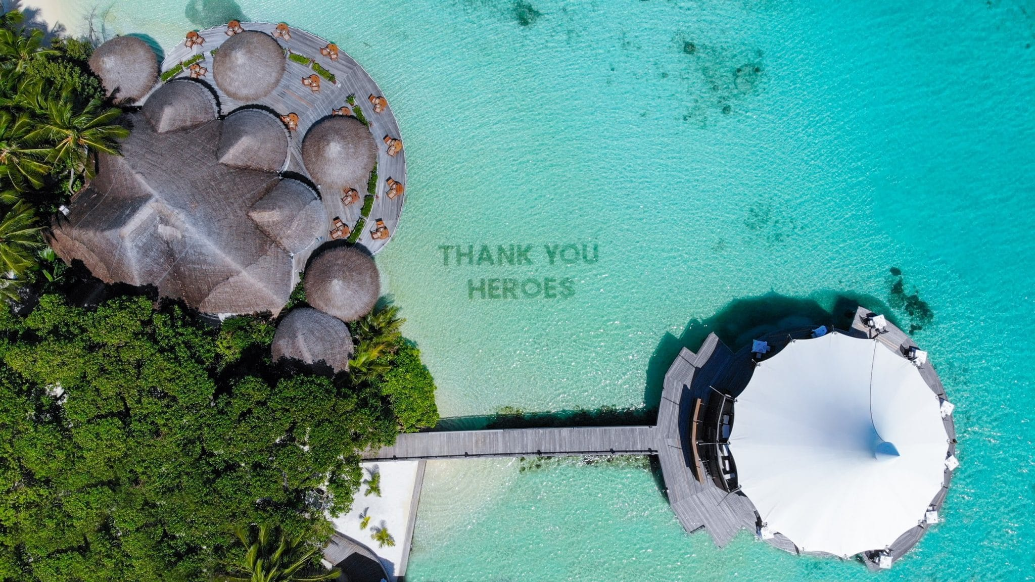 Baros Maldives Installs Permanent Coral Tribute to COVID-19 Heroes
